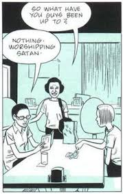 Nothing Worshipping Satan comic